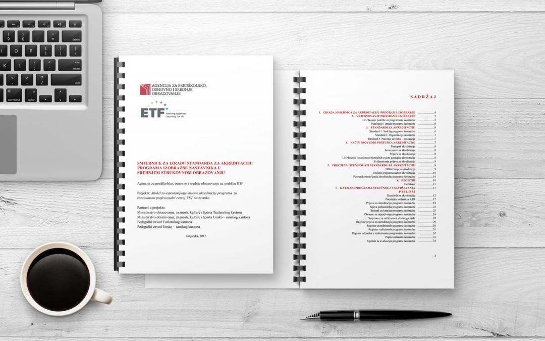 Smjernice za izradu standarda za akreditaciju programa izobrazbe nastavnika u srednjem strukovnom obrazovanju