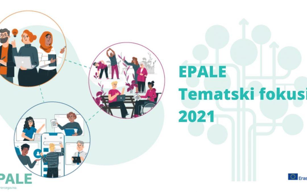 EPALE tematski fokusi u 2021. godini