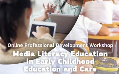"""Poziv za prijave na eTwinning online radionicu za profesionalni razvoj """"Medijska pismenost u ranom odgoju i obrazovanju"""""""