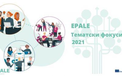 EPALE тематски фокуси у 2021. години